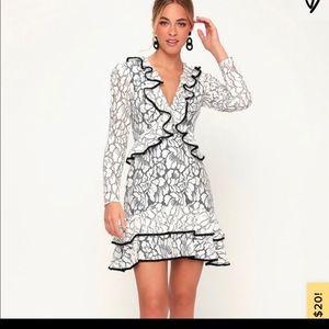 White lace keepsake dress